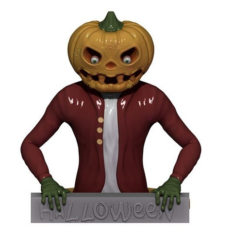 MrPumkin.jpg Download STL file Mr PUMPKIN • 3D printer template, yoda3d