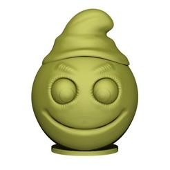 3D printing model smiley, yoda3d