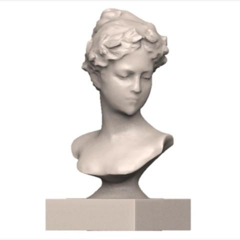 Download OBJ file Female bust • Model to 3D print, yoda3d