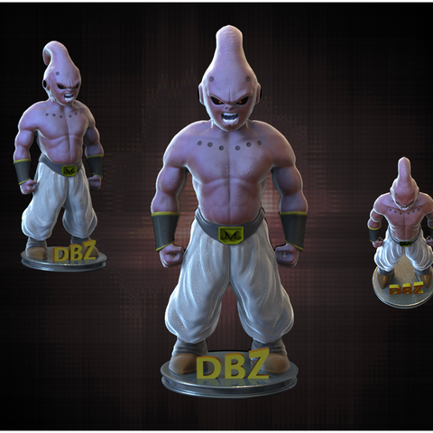 BUU.png Download OBJ file Kid Buu • 3D printing template, yoda3d