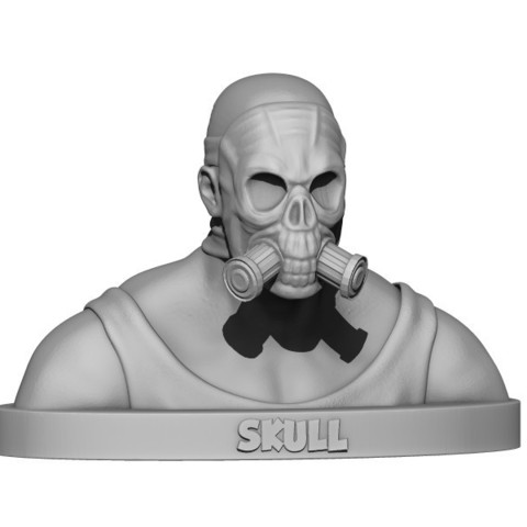 Download STL file Atomic skull • 3D printing template, yoda3d
