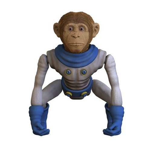 Download STL files Space Monkey, yoda3d