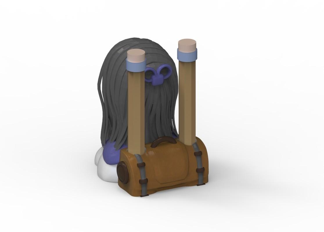 untitled.102.jpg Download STL file Manga pencil holder • 3D printer model, yoda3d