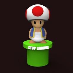 Fichier imprimante 3D gratuit Stop Gaming, yoda3d