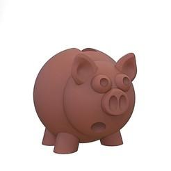 """1 (1).jpg Télécharger fichier STL Tirelire cochon""""save money"""" • Design pour imprimante 3D, yoda3d"""