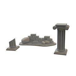 Download 3D printer templates Ruins, yoda3d