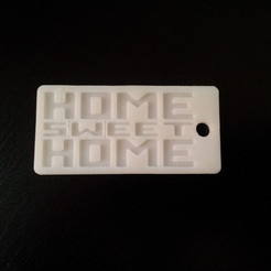 "Plan 3D gratuit Keychains ""Home Sweet Home"", Narvarth"