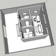 Descargar archivos STL gratis maison 3d - house 3 rooms with decoration, creafat