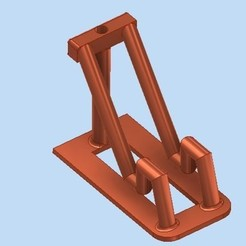 Download STL file cell phone holder • 3D printer object, bucker