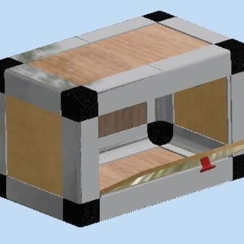 Free stl file furniture in expandable module, bucker