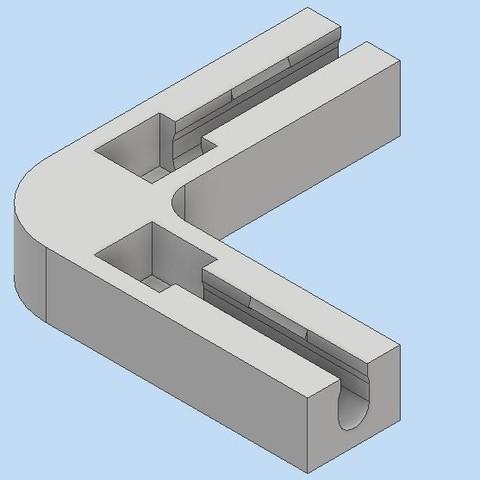 Download STL file corner piece for rabbit cage • 3D print template, bucker