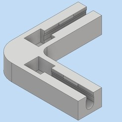 Imprimir en 3D pieza de esquina para jaula de conejo, bucker