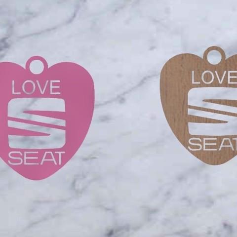 SEAT-14.jpg Download free STL file SEAT key ring • 3D printer design, Pegazepi