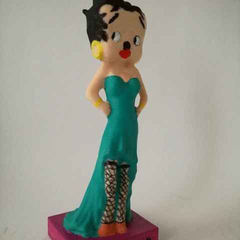 Download free STL file Betty Boop Evening • 3D print model, Pegazepi