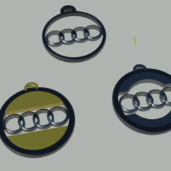 Audi_porte-cléfs.png Download free STL file Audi key ring • 3D printing template, Pegazepi