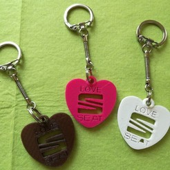 Love-SEAT.jpg Download free STL file SEAT key ring • 3D printer design, Pegazepi