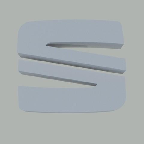 Logo-SEAT.jpeg Download free STL file SEAT key ring • 3D printer design, Pegazepi