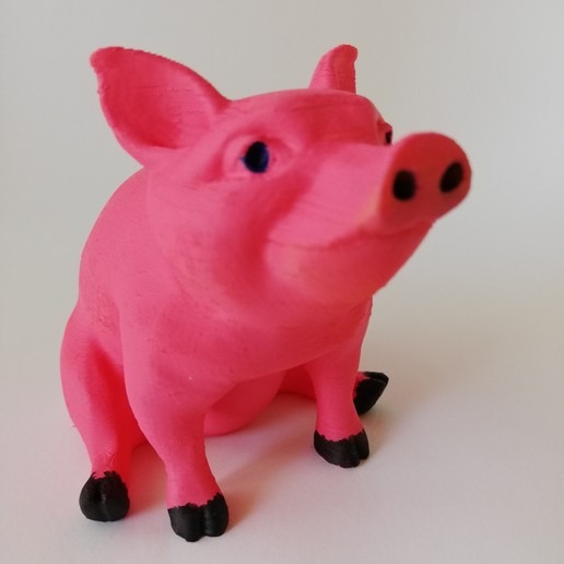 Download free STL file Piggy Sitting(Sir Pigglesfree): single extrusion version, Pegazepi
