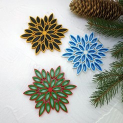 multicolor_snowflake.jpg Download free STL file Multicolor snowflake  3d printed quilling • Template to 3D print, TanyaAkinora