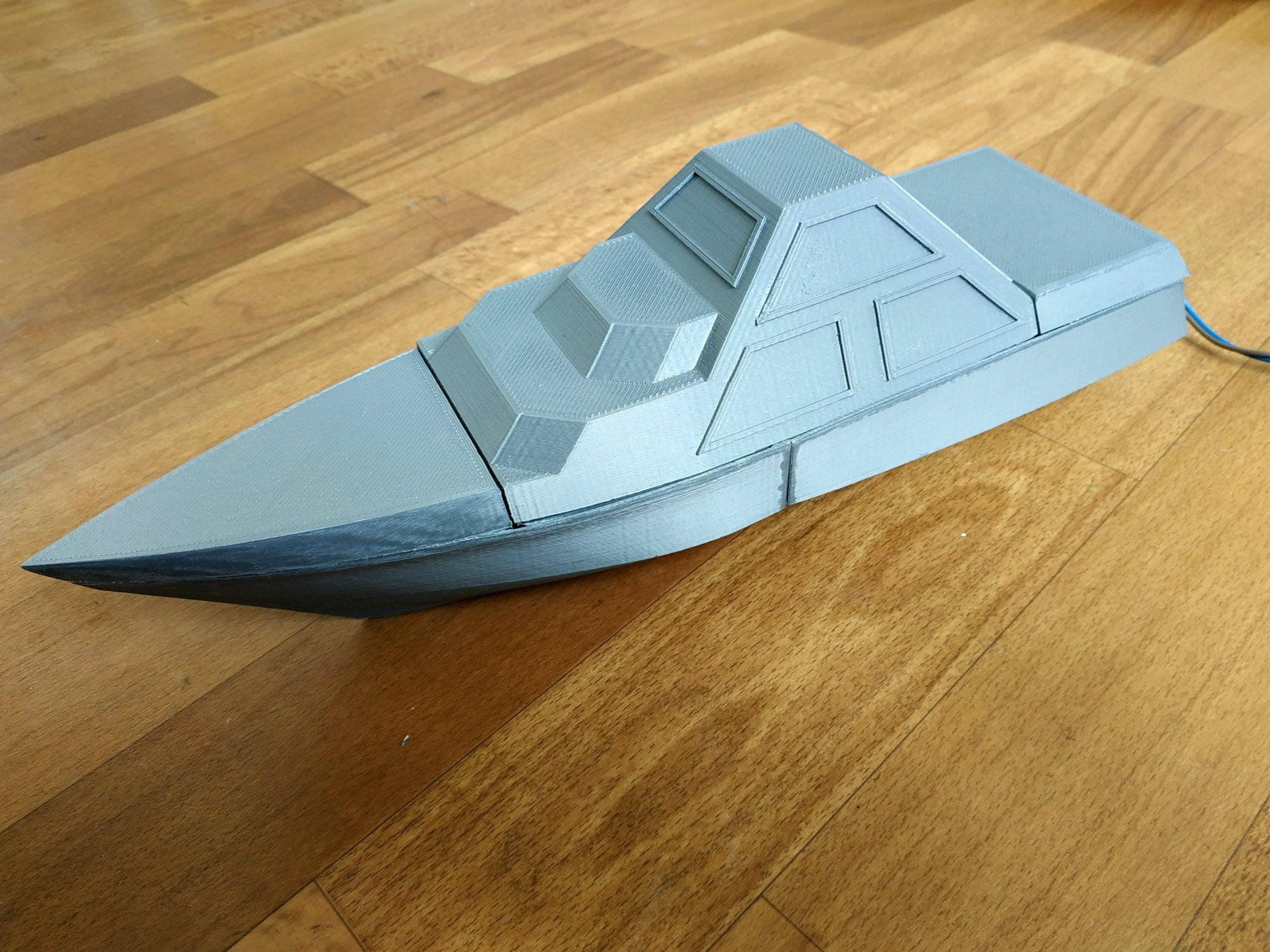 DARINS_1_1.jpg Download free STL file DARINS - stealth boat with reactionless propulsion drive • 3D printer design, TanyaAkinora