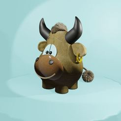 toy_bull_9.JPG Download free STL file Toy bull • Object to 3D print, TanyaAkinora