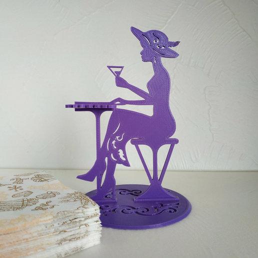 small_napkins.jpg Télécharger fichier STL gratuit Porte-serviette Lady dans un café • Plan à imprimer en 3D, TanyaAkinora