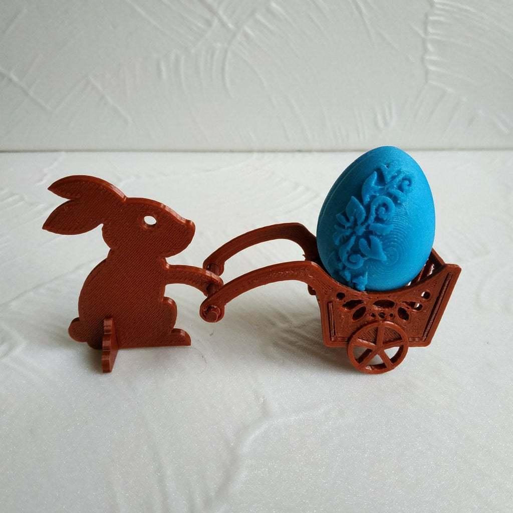 Easter_bunny_1.jpg Télécharger fichier STL gratuit Lapin de Pâques avec une charrette à bras • Design pour impression 3D, TanyaAkinora