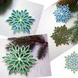 Download free 3D printing files Multicolor snowflake  3d printed quilling, TanyaAkinora
