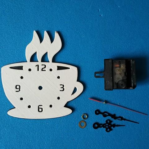 "IMG_20180916_090655 1.jpg Download free STL file Kitchen clock ""Coffee time"" • 3D printable template, TanyaAkinora"