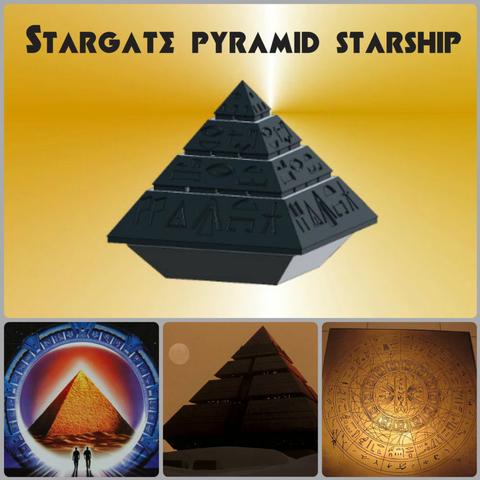 Descargar archivo STL gratis Piramide Starship Stargate • Diseño para  impresión en 3D ・ Cults