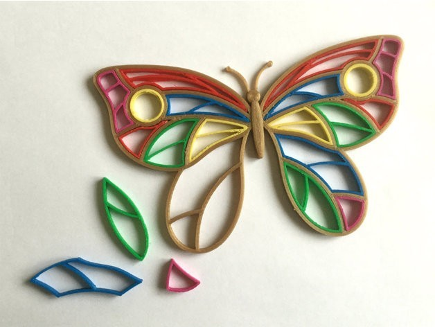 1db400f4c67ffef24dd3bfbb1b60ed60_preview_featured.jpg Télécharger fichier STL gratuit Quilling Papillon • Design pour impression 3D, TanyaAkinora