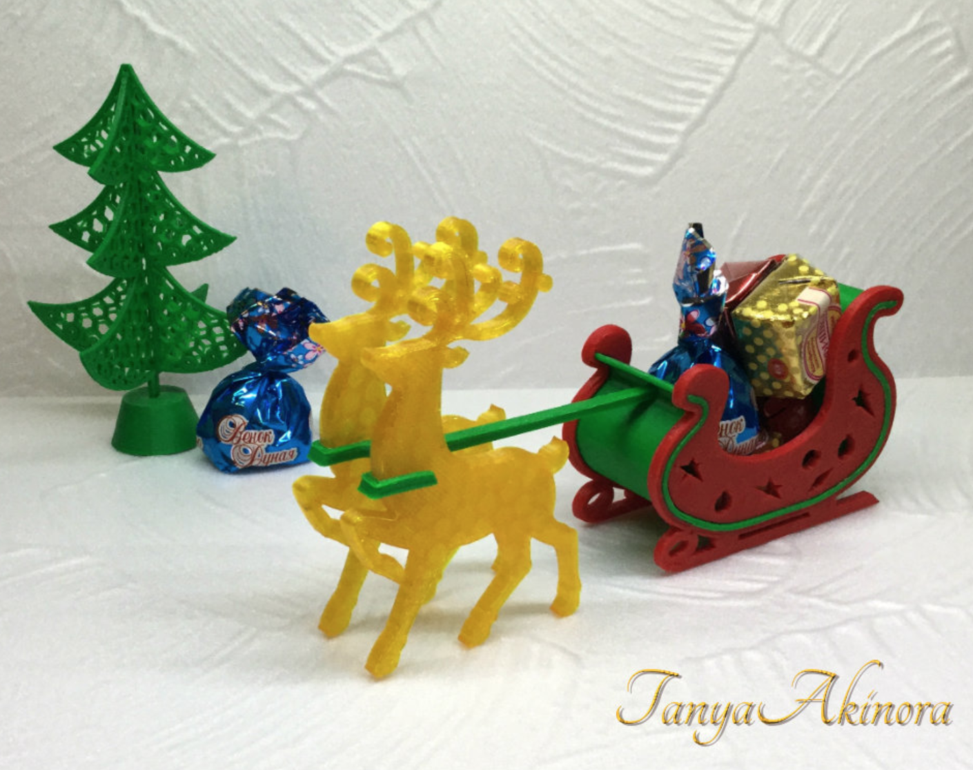 Capture d'écran 2017-12-12 à 17.19.34.png Download free STL file Christmas deer • 3D print template, TanyaAkinora