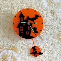Download free 3D printing designs Halloween clock, TanyaAkinora