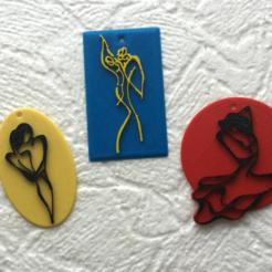 Free STL Valentine's Day pendants, TanyaAkinora