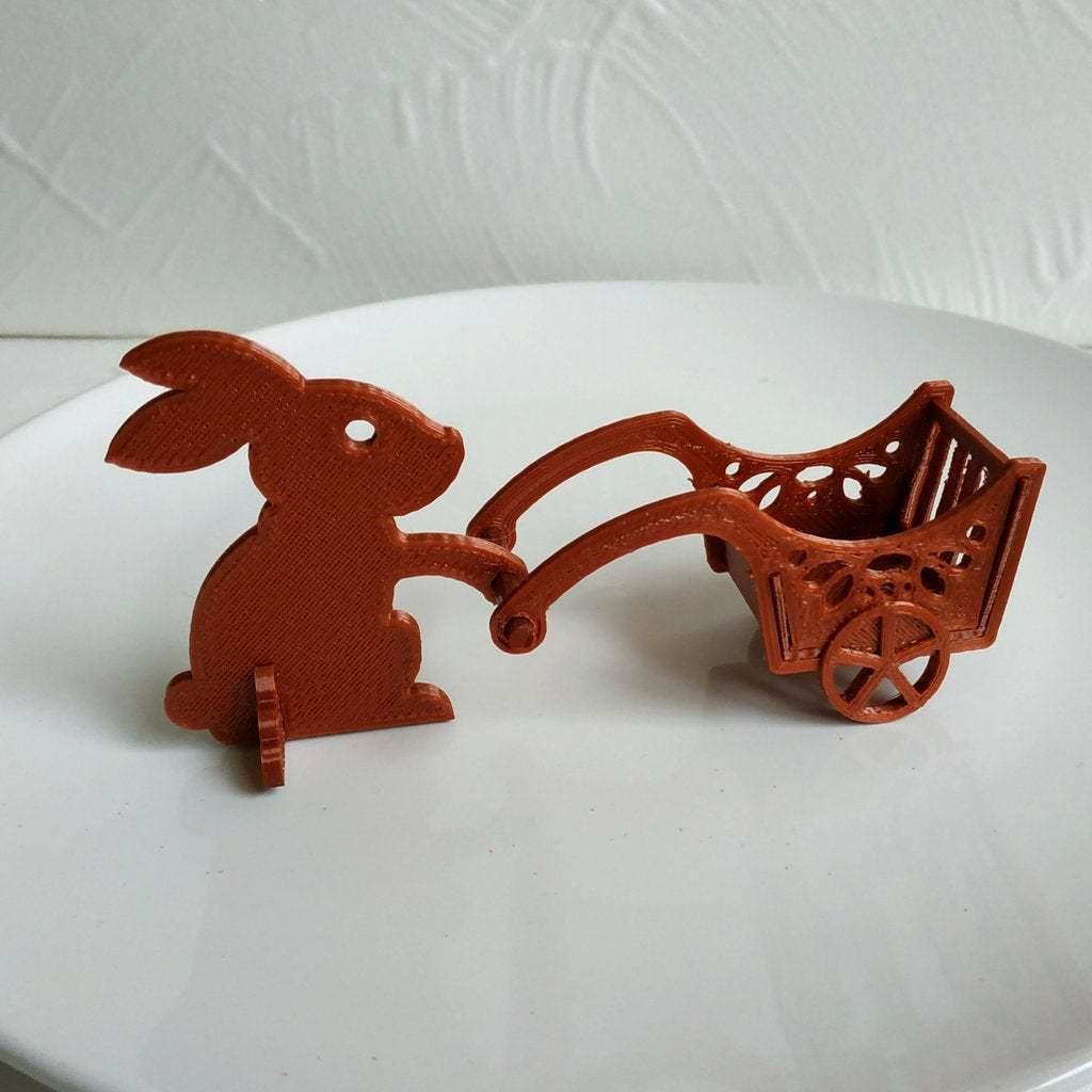 Easter_bunny.jpg Télécharger fichier STL gratuit Lapin de Pâques avec une charrette à bras • Design pour impression 3D, TanyaAkinora
