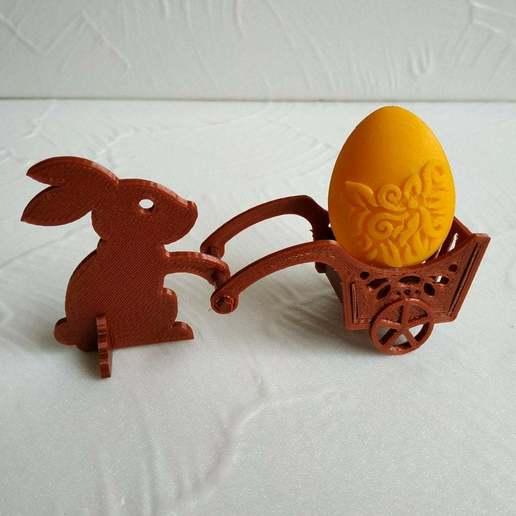 Easter_bunny_2.jpg Télécharger fichier STL gratuit Lapin de Pâques avec une charrette à bras • Design pour impression 3D, TanyaAkinora