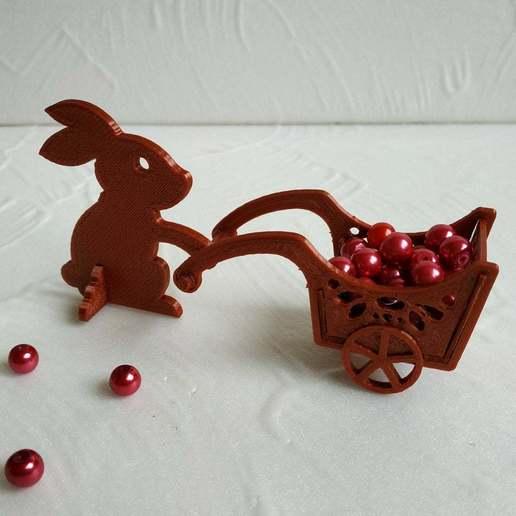 Easter_bunny_4.jpg Télécharger fichier STL gratuit Lapin de Pâques avec une charrette à bras • Design pour impression 3D, TanyaAkinora