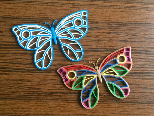 94061c01e3baf48eac417911aa524f6a_preview_featured.jpg Download free STL file Quilling Butterfly • 3D print template, TanyaAkinora