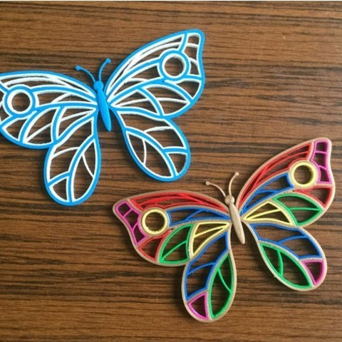 Download free 3D printing templates Quilling Butterfly, TanyaAkinora
