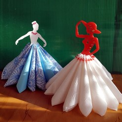 "ballerina_and_miss.jpg Download free STL file Napkin holder ""Miss and ballerina"" remix • 3D printer model, TanyaAkinora"