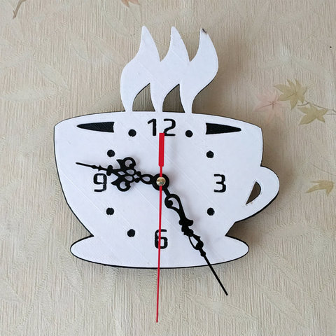 "Free stl file Kitchen clock ""Coffee time"", TanyaAkinora"