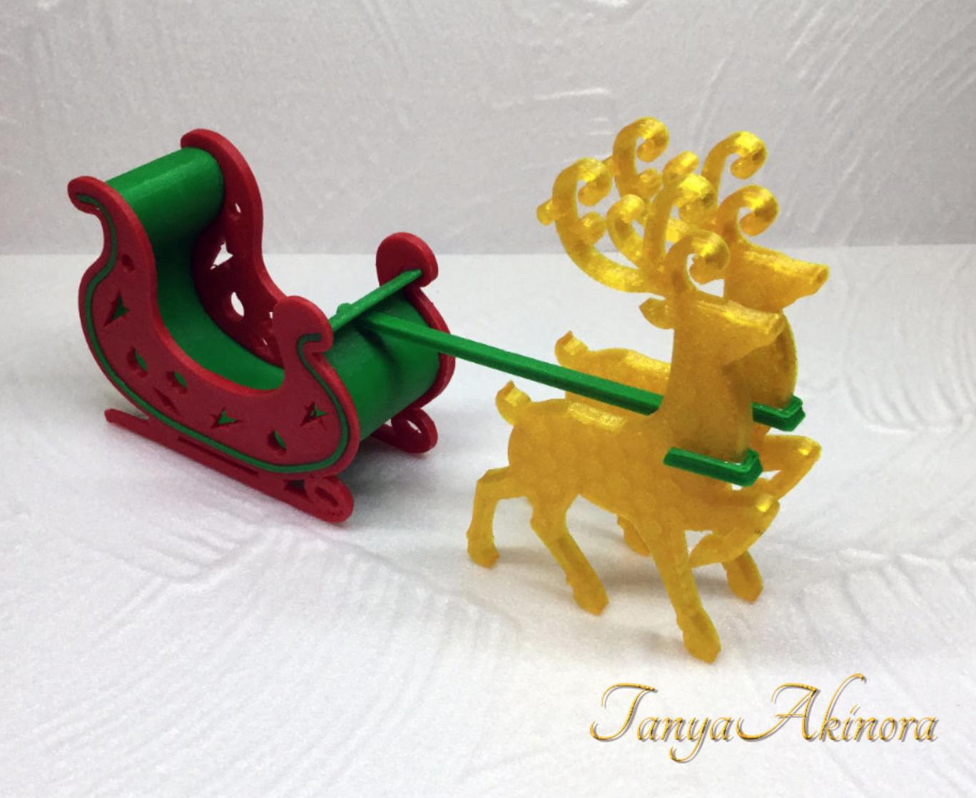 Capture d'écran 2017-12-12 à 17.19.27.png Download free STL file Christmas deer • 3D print template, TanyaAkinora