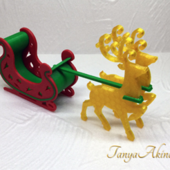 Free 3d print files Christmas deer, TanyaAkinora