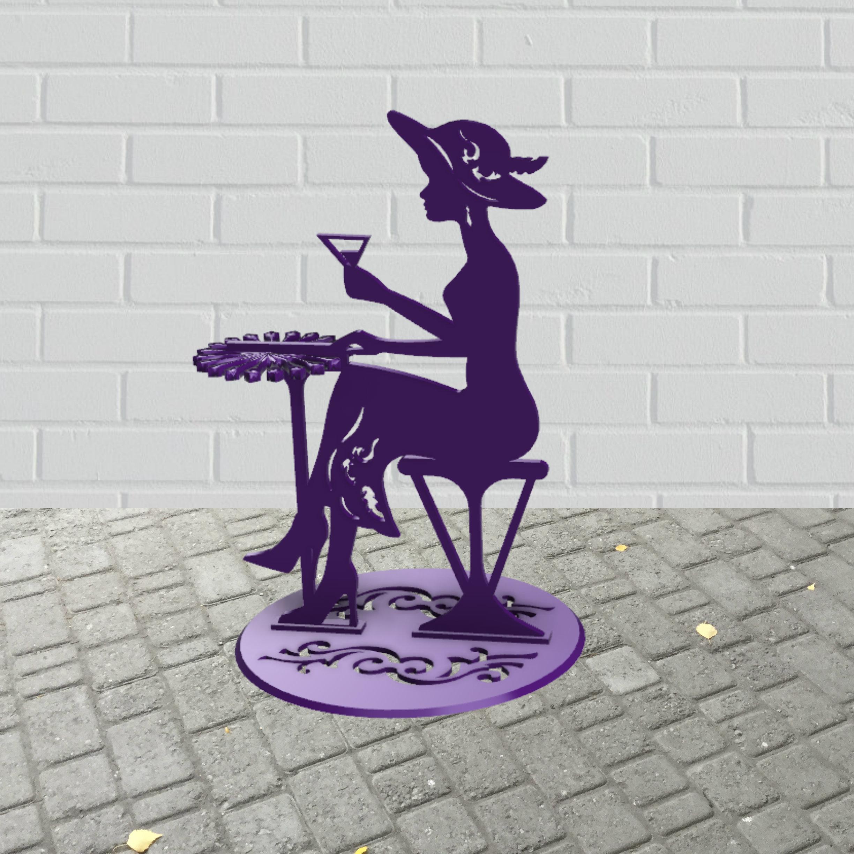 picture.jpg Télécharger fichier STL gratuit Porte-serviette Lady dans un café • Plan à imprimer en 3D, TanyaAkinora