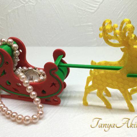 Capture d'écran 2017-12-12 à 17.19.41.png Download free STL file Christmas deer • 3D print template, TanyaAkinora
