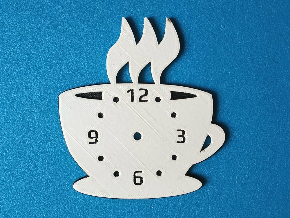 """cup.jpg Download free STL file Kitchen clock """"Coffee time"""" • 3D printable template, TanyaAkinora"""