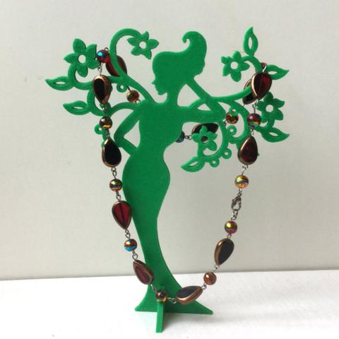 Imprimir en 3D gratis Chica - Primavera. Soporte para joyas., TanyaAkinora