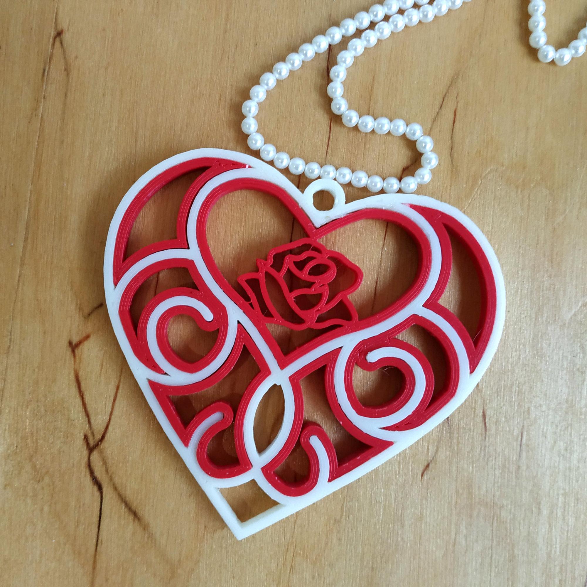 3D_printed_Quilling_Heart.jpg Télécharger fichier STL gratuit Coeur de Quilling imprimé en 3D • Modèle pour impression 3D, TanyaAkinora