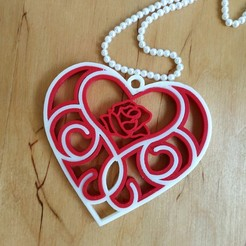 3D_printed_Quilling_Heart.jpg Download free STL file 3D printed Quilling Heart • 3D print template, TanyaAkinora
