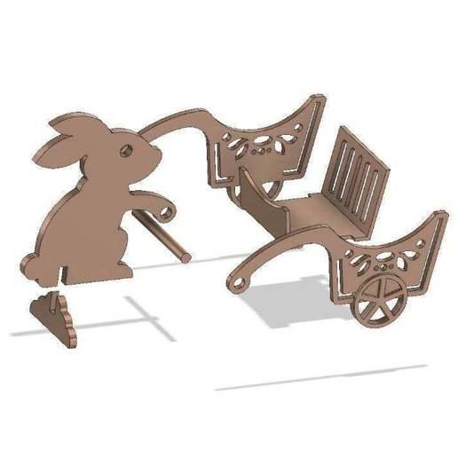 Easter_bunny_6.jpg Télécharger fichier STL gratuit Lapin de Pâques avec une charrette à bras • Design pour impression 3D, TanyaAkinora